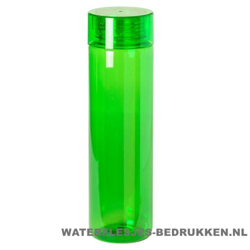 Bidon transparant modern 780ml bedrukt groen