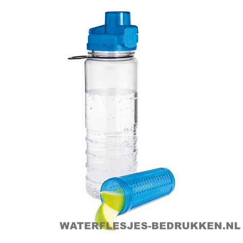 Drinkfles fruitcompartiment bedrukken blauw