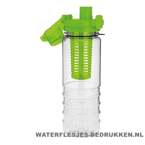 Drinkfles fruitcompartiment bedrukken goedkoop groen