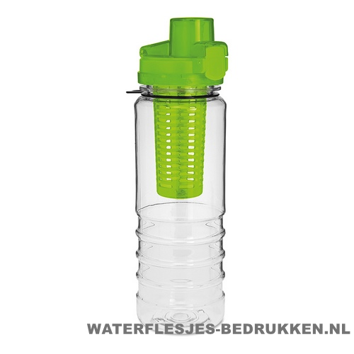 Drinkfles fruitcompartiment bedrukken green