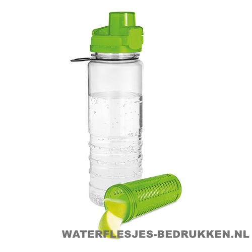Drinkfles fruitcompartiment bedrukken groen
