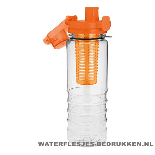Drinkfles fruitcompartiment bedrukken orange