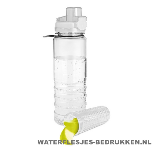 Drinkfles fruitcompartiment bedrukken wit
