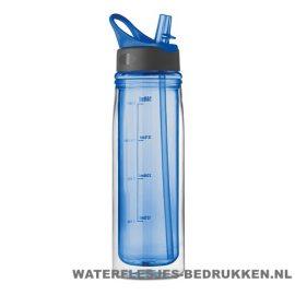 Dubbelwandige drinkfles bedrukken blauwe