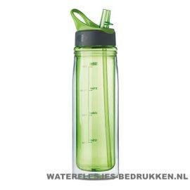 Dubbelwandige drinkfles bedrukken groen