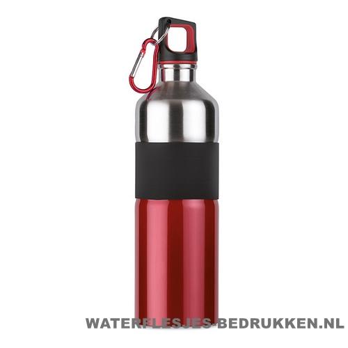 Luxe thermosfles 750ml bedrukken rood