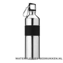 Luxe thermosfles 750ml bedrukt zilver