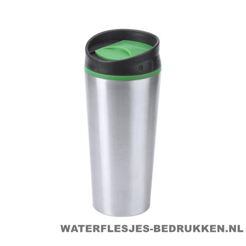 Reisbeker goedkoop color 540ml bedrukken groen