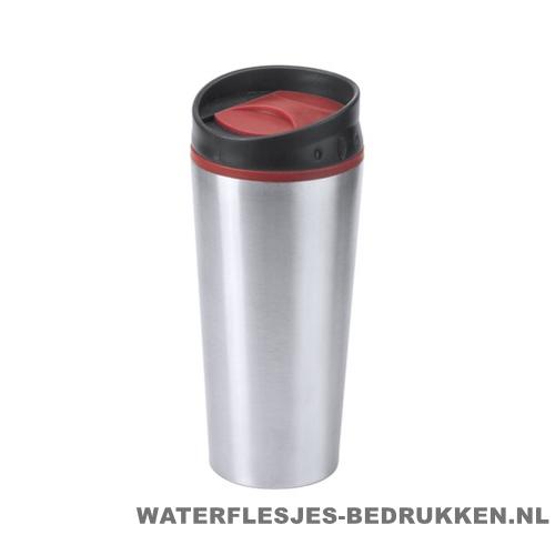 Reisbeker goedkoop color 540ml bedrukken rood