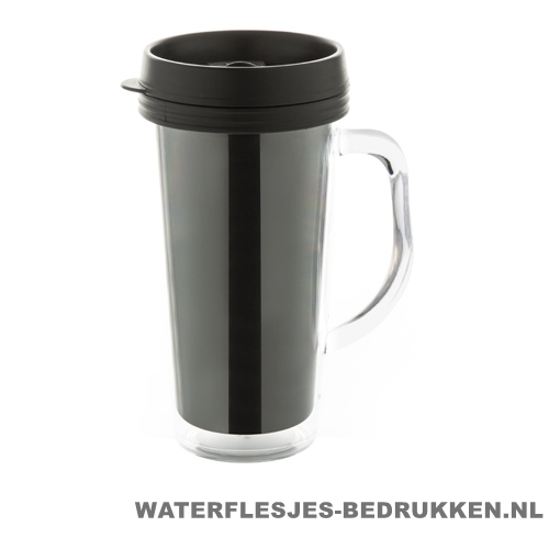 Reisbeker goedkoop inlay 450ml bedrukken