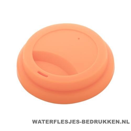 Reisbeker goedkoop multicolor bedrukken deksel oranje