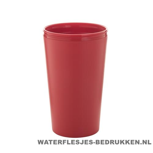 Reisbeker goedkoop multicolor bedrukken rood