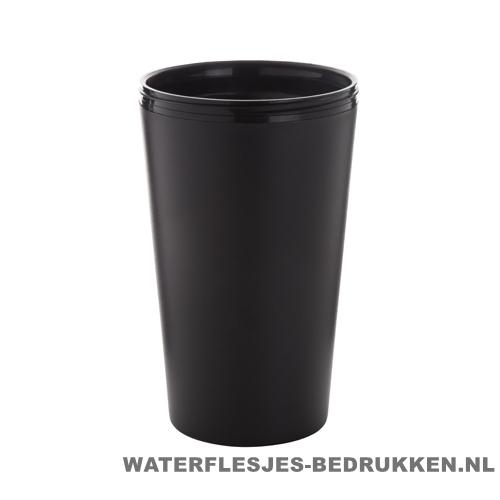 Reisbeker goedkoop multicolor bedrukken zwart