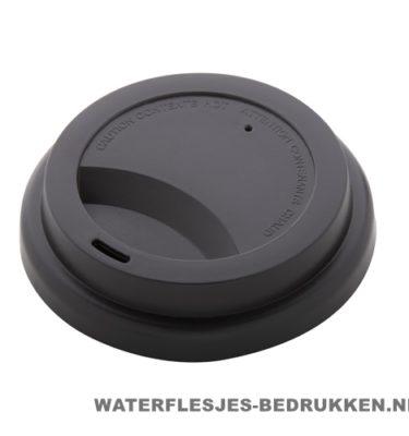 Reisbeker goedkoop multicolor bedrukt zwart