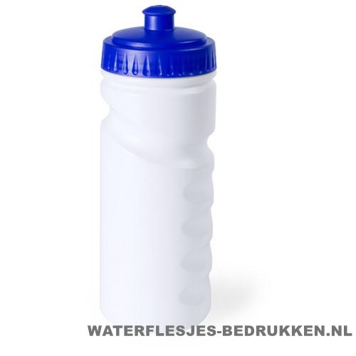 Sport bidon dop gekleurd 500ml bedrukt blauw