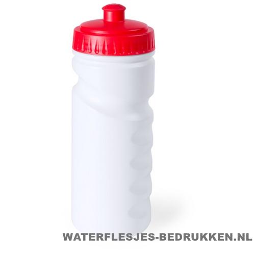 Sport bidon dop gekleurd 500ml bedrukt rood