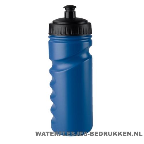 Sport bidon houder gekleurd 500ml bedrukt blauw