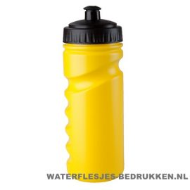 Sport bidon houder gekleurd 500ml bedrukt geel