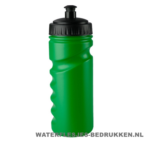 Sport bidon houder gekleurd 500ml bedrukt groen