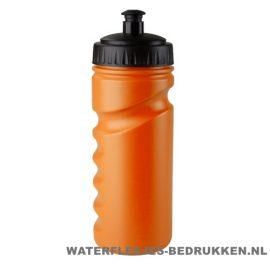 Sport bidon houder gekleurd 500ml bedrukt oranje