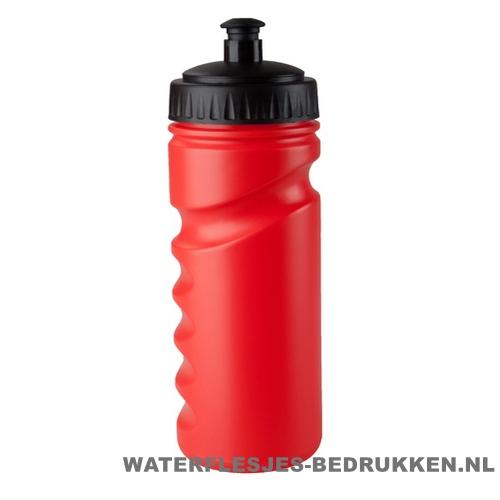 Sport bidon houder gekleurd 500ml bedrukt rood