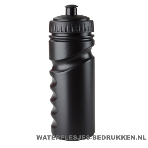 Sport bidon houder gekleurd 500ml bedrukt zwarte