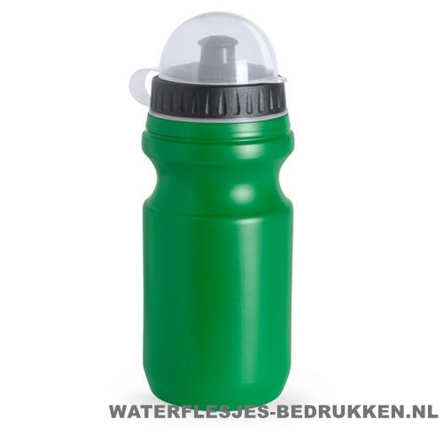 Sport bidon plastic 550ml met logo groen