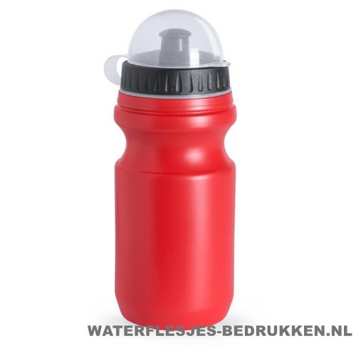 Sport bidon plastic 550ml met logo rood