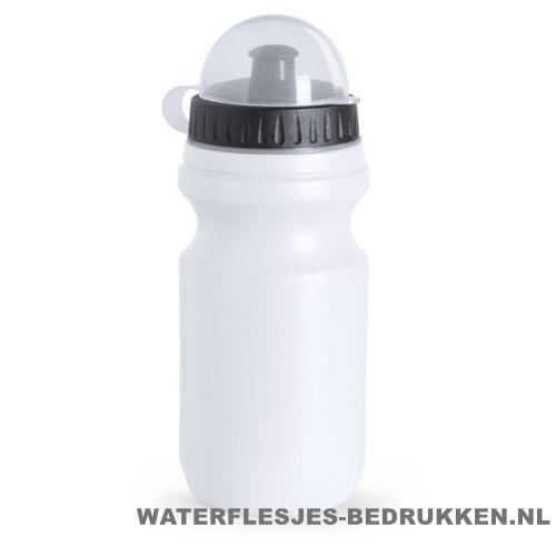 Sport bidon plastic 550ml met logo wit