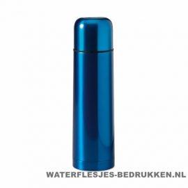 Thermos fles bedrukken blauw