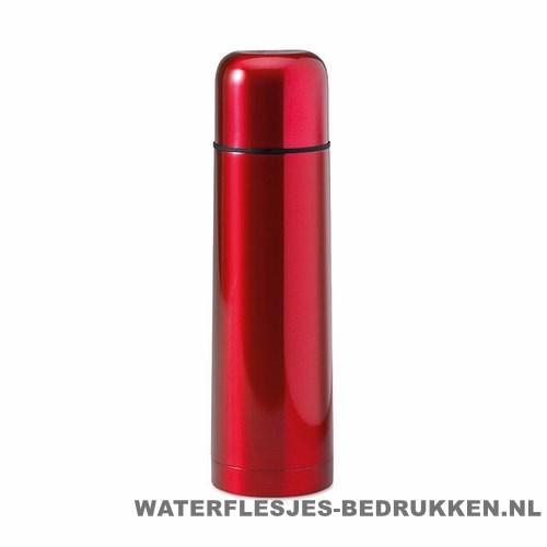 Thermos fles bedrukken rood