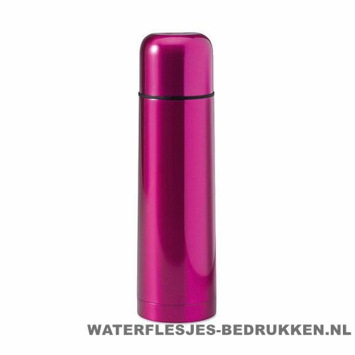 Thermos fles bedrukken roze