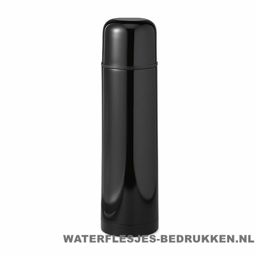 Thermos fles bedrukken zwarte