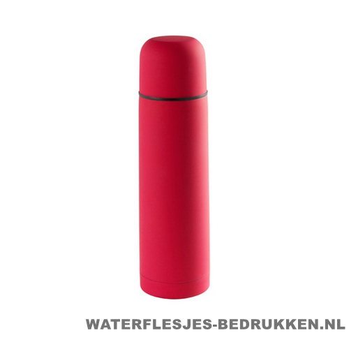 Thermosfles goedkoop 500ml bedrukken rood
