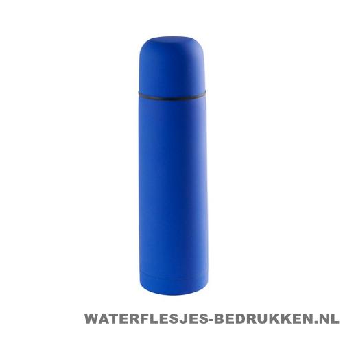 Thermosfles goedkoop 500ml bedrukt blauw