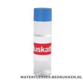 Ronde waterfles Cap'leau 550ml bedrukken blauw