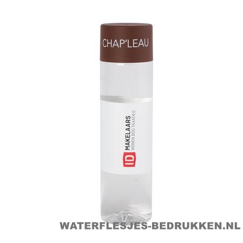 Ronde waterfles Cap'leau 550ml bedrukken bruin