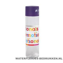 Ronde waterfles Cap'leau 550ml bedrukken donker paars