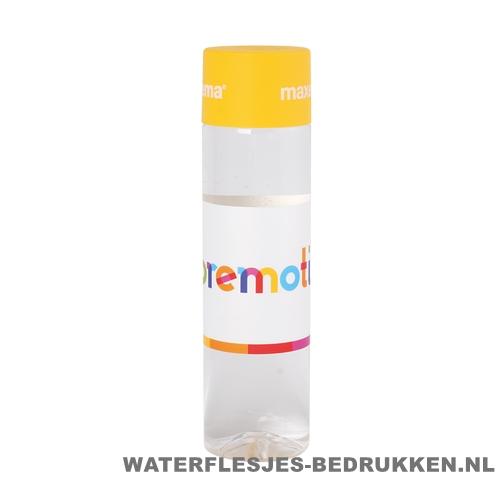 Ronde waterfles Cap'leau 550ml bedrukken geel