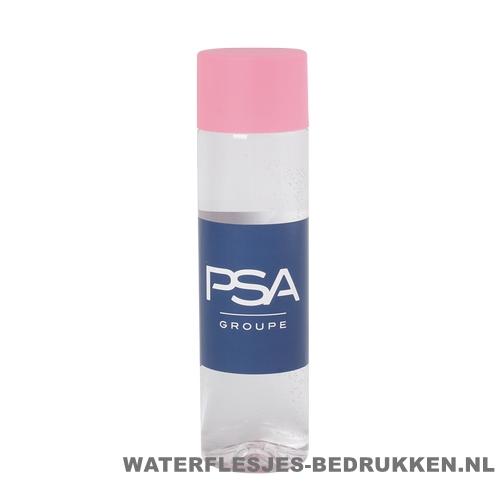 Ronde waterfles Cap'leau 550ml bedrukken licht roze