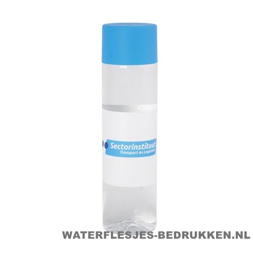 Ronde waterfles Cap'leau 550ml bedrukken lichtblauw