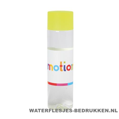 Ronde waterfles Cap'leau 550ml bedrukken neon geel