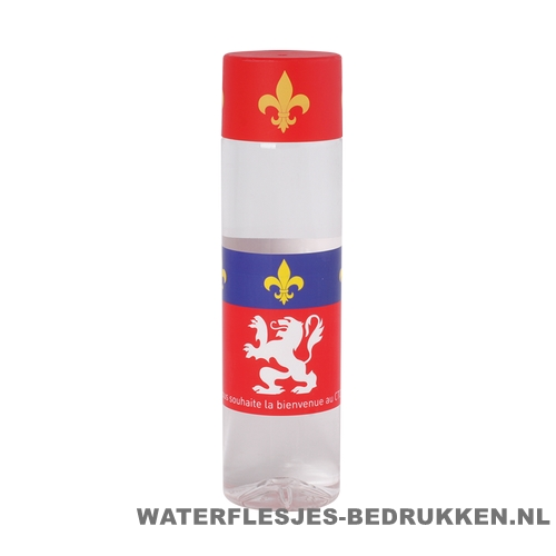 Ronde waterfles Cap'leau 550ml bedrukken rood