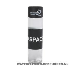 Ronde waterfles Cap'leau 550ml bedrukken zwart