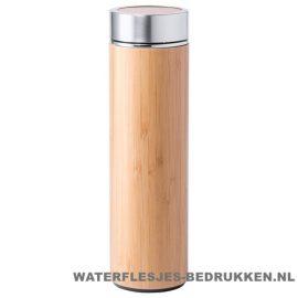 Sport bidon bamboe 500 ml naturel