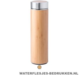 Sport bidon bamboe 500 ml naturel duurzaam goedkoop