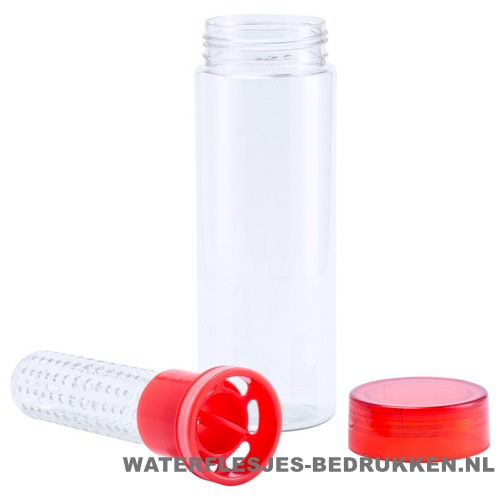 Sport bidon fruit infuser 700ml bedrukken rode kleur