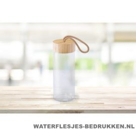 Sport bidon glas bamboe 420ml bedrukken goedkoop
