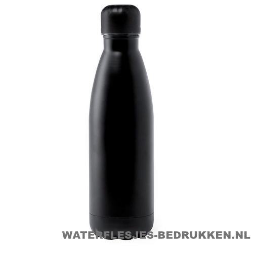 Sport bidon staal 790ml bedrukken zwart