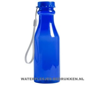 Sport bidon transparant 500 ml bedrukken blauw